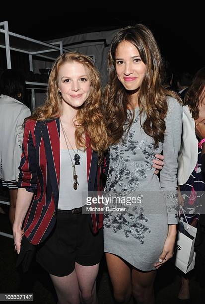 Actresses Ashley Bell and Kelsey Chow attends the NYLON Magazine Denim Issue Launch Party hosted by Drew Barrymore at The London Hotel on August 10,...