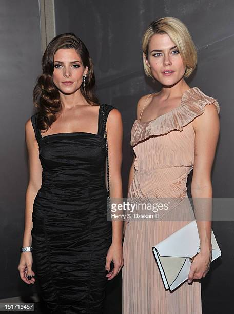 Actresses Ashley Greene and Rachael Taylor attend the Donna Karan New York show during Spring 2013 MercedesBenz Fashion Week on September 10 2012 in...