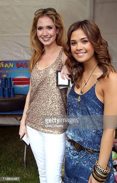 Actresses Ashley Jones and Nicole Gale Anderson attend the 22nd Annual Time for Heroes Celebrity Picnic sponsored by Disney to benefit the Elizabeth...
