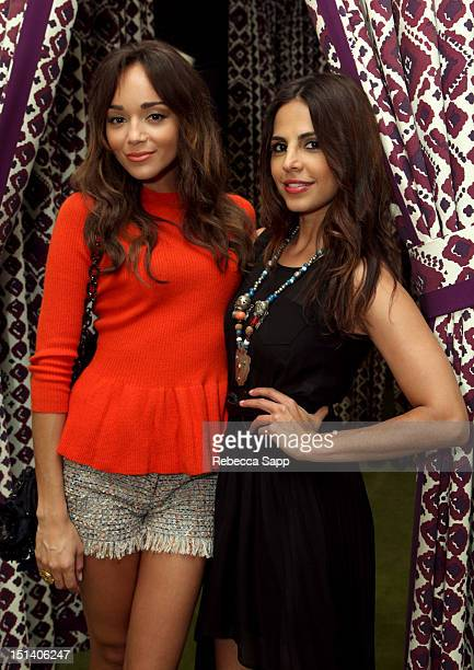 Actresses Ashley Madekwe and Azita Ghanizada at Fashion's Night Out At Tory Burch at Tory Burch on September 6 2012 in Los Angeles California