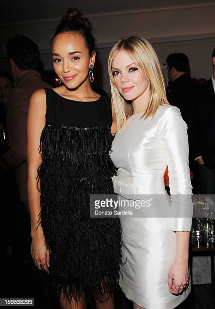 """Actresses Ashley Madekwe and Dreama Walker attend W Magazine's 'Best Performances Issue"""" and the Golden Globe Awards celebration with W Magazine..."""