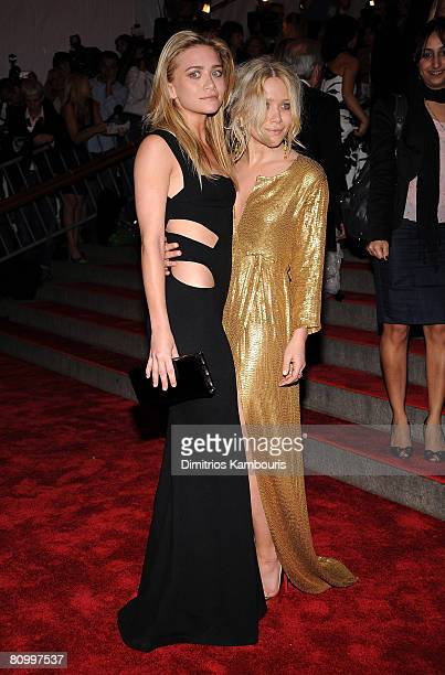 """Actresses Ashley Olsen and Mary-Kate Olsen attend the Metropolitan Museum of Art Costume Institute Gala """"Superheroes: Fashion And Fantasy"""" at the..."""