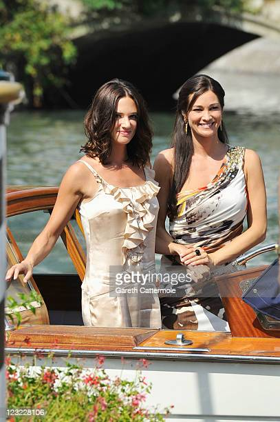 Actresses Asia Argento and Manuela Arcuri attends the 68th Venice Film Festival on September 1 2011 in Venice Italy