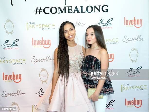 Actresses Asia Monet and Alexa Nisenson arrive for Asia Monet's 12th Birthday Party at OUE Skyspace LA on August 10 2017 in Los Angeles California