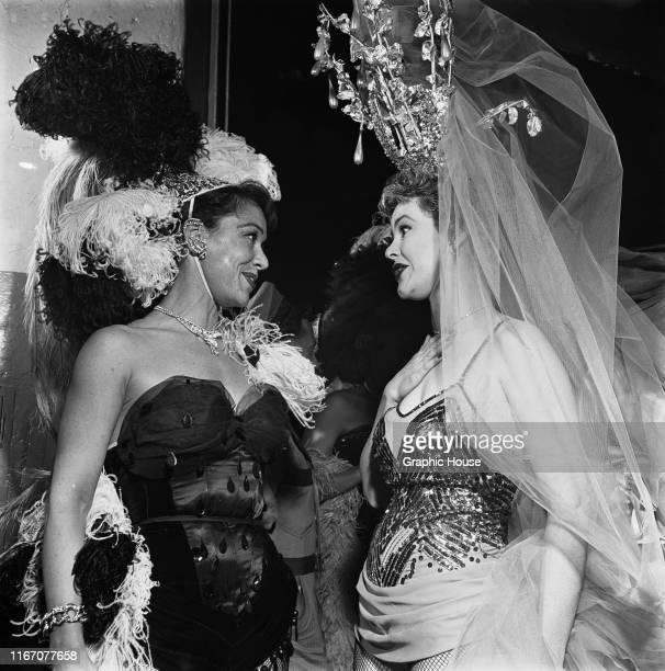 Actresses at a benefit performance of the Ringling Brothers Barnum and Bailey Circus in New York City, 31st March 1954.