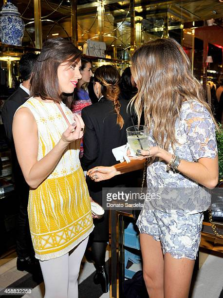 12c702577c8 Actresses Aubrey Plaza and Nikki Reed attend Vogue and Tory Burch celebrate  the Tory Burch Watch