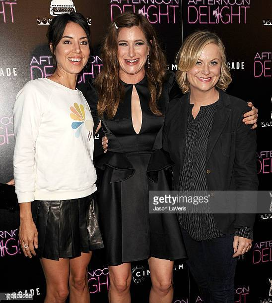 Actresses Aubrey Plaza Kathryn Hahn and Amy Poehler attend the premiere of 'Afternoon Delight' at ArcLight Hollywood on August 19 2013 in Hollywood...