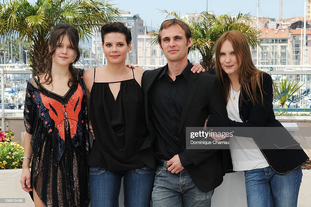 Actresses Audrey Bastien,Selma El Moussi, director Fabrice Gobert and actress Ana Girardot attends the 'Lights Out' Photo Call held at the Palais des Festivals during the 63rd Annual International Cannes Film Festival on May 20, 2010 in Cannes, France.