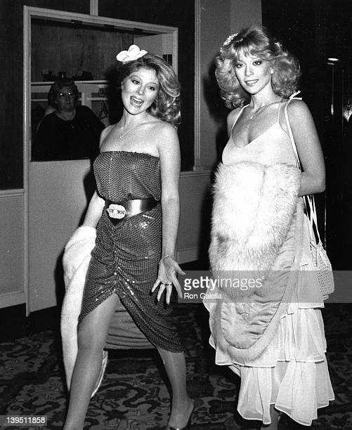 Actresses Audrey Landers and Judy Landers attend 38th Annual Golden Globe Awards on January 31 1981 at the Beverly Hilton Hotel in Beverly Hills...