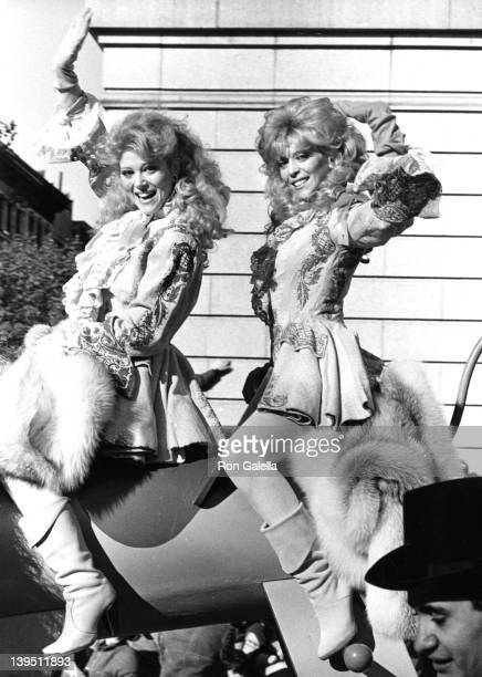 Actresses Audrey Landers and Judy Landers attend 58th Annual Macy's Thanksgiving Day Parade on November 22 1984 in New York City