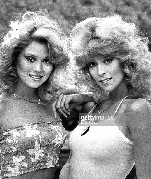 Actresses Audrey Landers and Judy Landers attend Exclusive Photo Session with The Landers Sisters on April 21 1982 at their home in Beverly Hills...