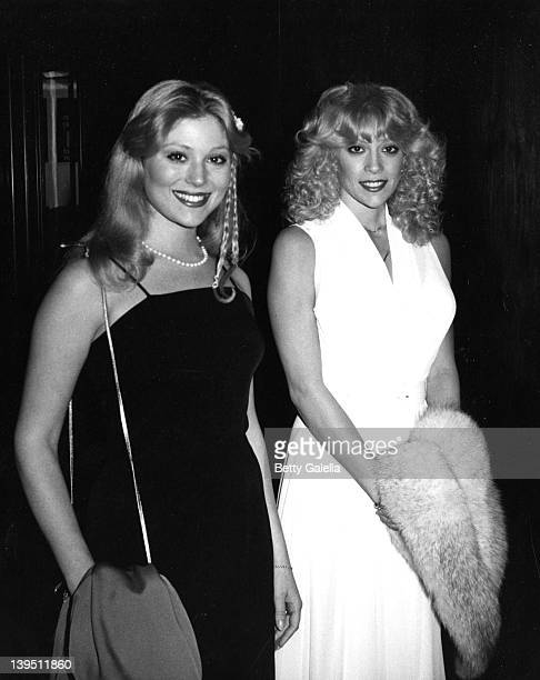 Actresses Audrey Landers and Judy Landers attend Star Magazine Party on March 4 1980 at the Beverly Wilshire Hotel in Beverly Hills California