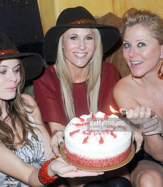 Actresses Augie Duke, Chanel Ryan and Noel Thurman participate in Chanel Ryan's Birthday Party held at Bardot on December 9, 2011 in Los Angeles,...