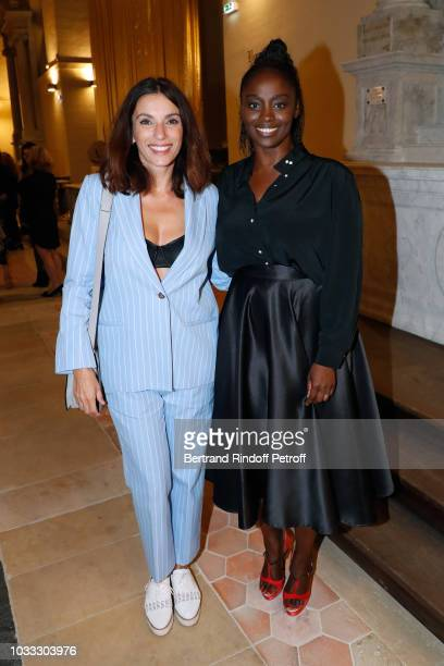 Actresses Aure Atika and Aissa Maiga attend the Kering Heritage Days Opening Night at 40 Rue de Sevres on September 14, 2018 in Paris, France.