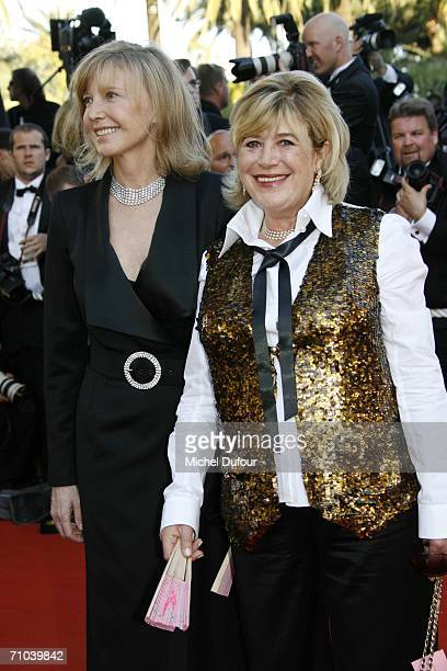Actresses Aurore Clement and Marianne Faithfull arrive for the 'Marie Antoinette' premiere at the Palais des Festivals during the 59th International...