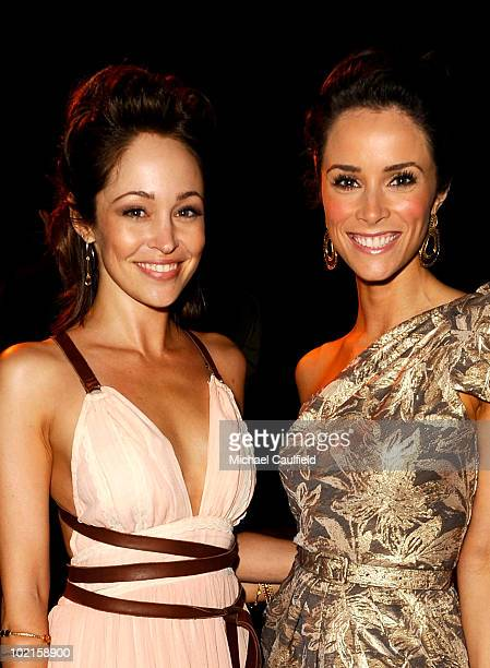 Actresses Autumn Reeser and Abigail Spencer attend the afterparty for HBO's Entourage Season 7 premiere held at Paramount Theater on the Paramount...