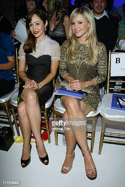 Actresses Autumn Reeser and Kristen Bell backstage and frontrow at Elsie Katz Spring 2008 collection during Los Angeles Mercedes Benz Fashion Week at...