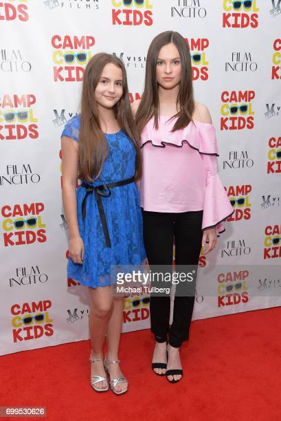 Actresses Ava Acres and Emily Hahn attend the premiere of Vision Films' Camp Cool Kids at AMC Universal City Walk on June 21 2017 in Universal City...