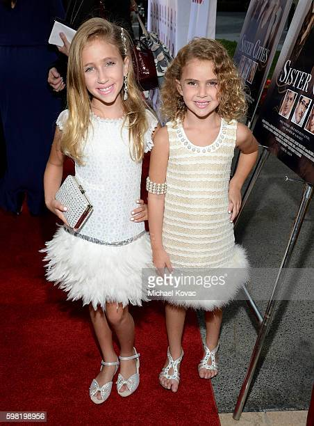 Actresses Ava Kolker and Lexy Kolker attend the Los Angeles screening of Lifetime's 'Sister Cities' at Paramount Theatre on August 31 2016 in...