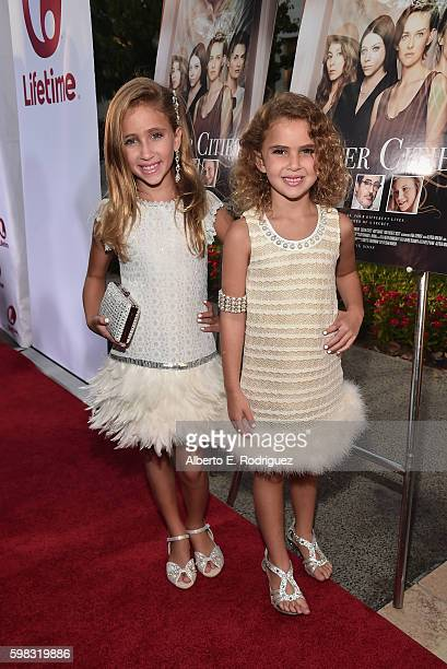 Actresses Ava Kolker and Lexy Kolker attend the premiere of Lifetime's Sister Cities at Paramount Theatre on August 31 2016 in Hollywood California