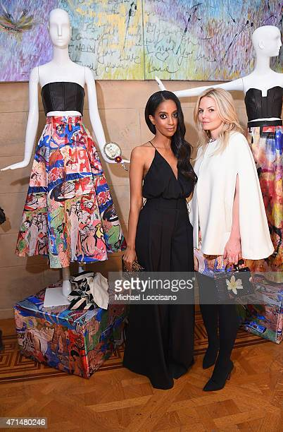 Actresses Azie Tesfai and Jennifer Morrison attend the alice olivia by Stacey Bendet and the CFDA celebration of the alice olivia and Domingo Zapata...