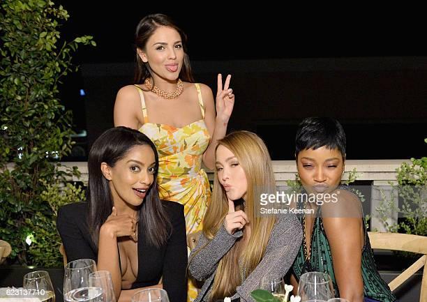 Actresses Azie Tesfai Eiza Gonzalez Devon Aoki and Keke Palmer attends Fergie First Lady of Los Angeles Amy Elaine Wakeland Barneys New York Host...