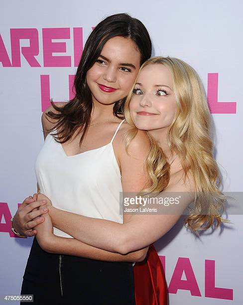 Actresses Bailee Madison and Dove Cameron attend the premiere of 'Barely Lethal' at ArcLight Hollywood on May 27 2015 in Hollywood California