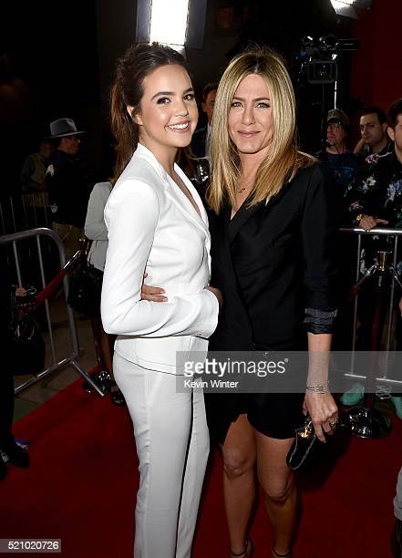 Actresses Bailee Madison and Jennifer Aniston attend Open Roads World Premiere of Mother's Day at TCL Chinese Theatre IMAX on April 13 2016 in...