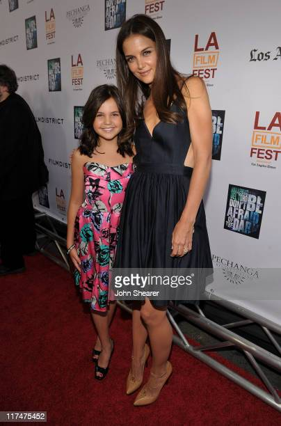 "Actresses Bailee Madison and Katie Holmes arrive at the ""Don't Be Afraid of The Dark"" Closing Night Gala screening during the 2011 Los Angeles Film..."