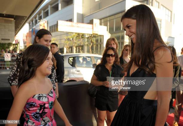 """Actresses Bailee Madison and Katie Holmes arrive at the """"Don't Be Afraid of The Dark"""" Closing Night Gala screening during the 2011 Los Angeles Film..."""