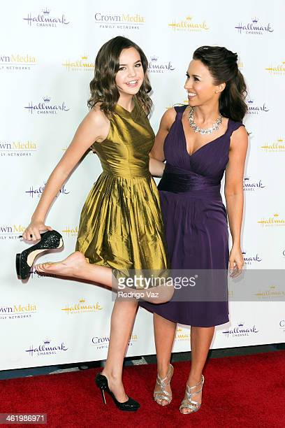 Actresses Bailee Madison and Lacey Chabert arrive at the Hallmark Channel & Hallmark Movie Channel 2014 Winter TCA Party at The Huntington Library...