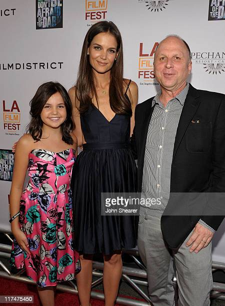 "Actresses Bailee Madison, Katie Holmes and FilmDistrict's Bob Berney arrive at the ""Don't Be Afraid of The Dark"" Closing Night Gala screening during..."