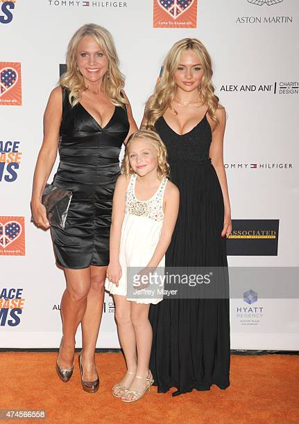 Actresses Barbara Alyn Woods Alyvia Alyn Lind and Natalie Alyn Lind arrive at the 22nd Annual Race To Erase MS at the Hyatt Regency Century Plaza on...