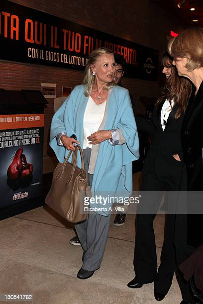 Actresses Barbara Bouchet and Penelope Cruz leave a cocktail party during the 6th International Rome Film Festival at the Auditorium Parco Della...