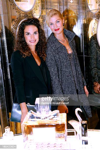 Actresses Barbara Cabrita and Mona Walravens attend 'Vendanges Montaigne 2013' At Dior, Avenue Montaigne on September 12, 2013 in Paris, France.