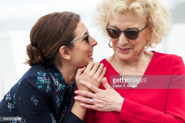 Actresses Barbara Lennie and Marisa Paredes attend the 'Petra' photocall during the 66th San Sebastian International Film Festival on September 28,...