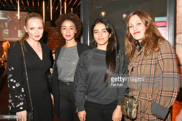Actresses Beatrice Rosen, Aurelie Konate, Hafsia Herzi and Karole Rocher attend 'Range Rover Evoque' Unveilling party at Le Faust on November 28,...