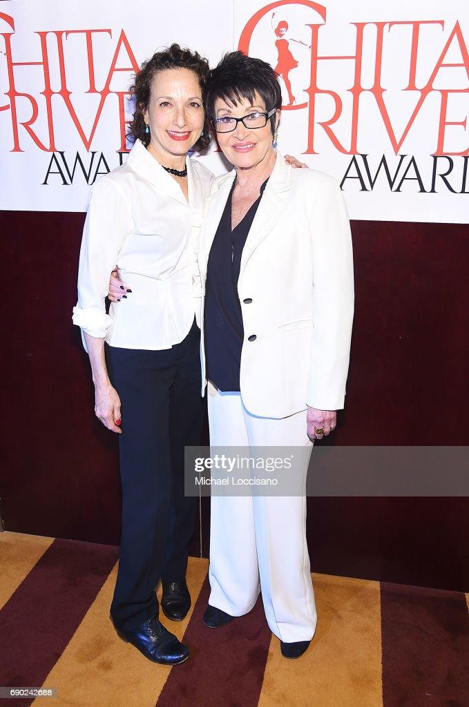 Actresses Bebe Neuwirth (L) and Chita Rivera attend the 2017 Chita Rivera Awards Nominees' Reception at The Lambs Club on May 30, 2017 in New York City.