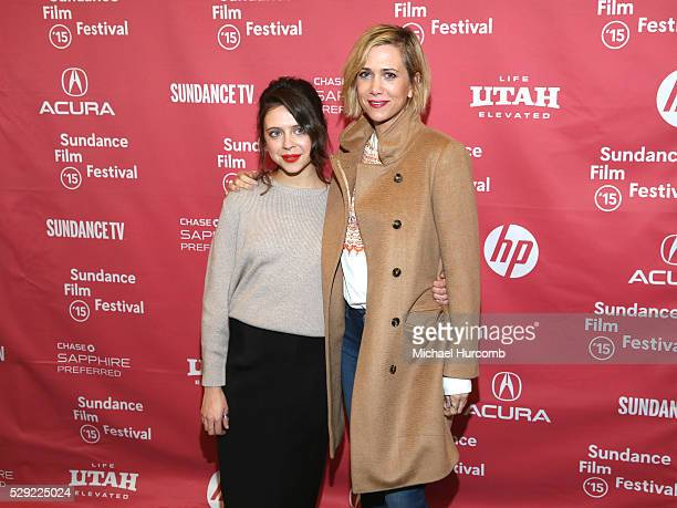 """Actresses Bel Powley and Kristen Wiig attend """"The Diary of a Teenage Girl"""" premiere at the 2015 Sundance Film Festival"""