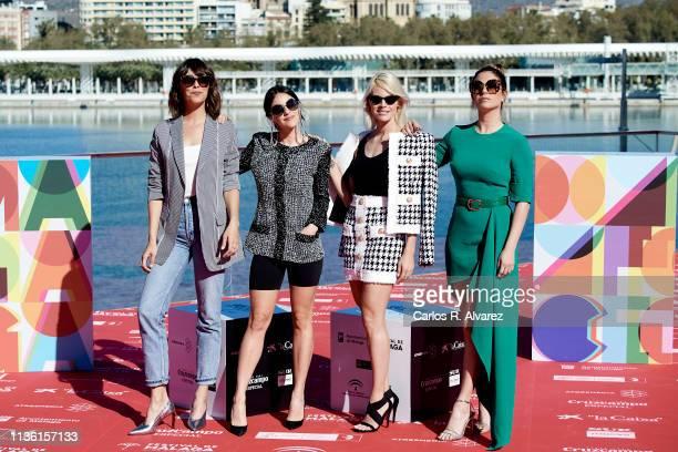 Actresses Belen Cuesta Macarena Garcia Amaia Salamanca and Blanca Suarez attend 'A Pesar de Todo' photocall dureing the 22th Malaga Film Festival on...