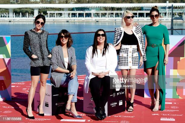 Actresses Belen Cuesta Macarena Garcia director Gabriela Tabliavini Amaia Salamanca and Blanca Suarez attend 'A Pesar de Todo' photocall dureing the...