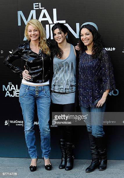 Actresses Belen Rueda Clara Lago and Cristina Plazas attend the 'El Mal Ajeno' photocall at Princesa Cinema on March 15 2010 in Madrid Spain