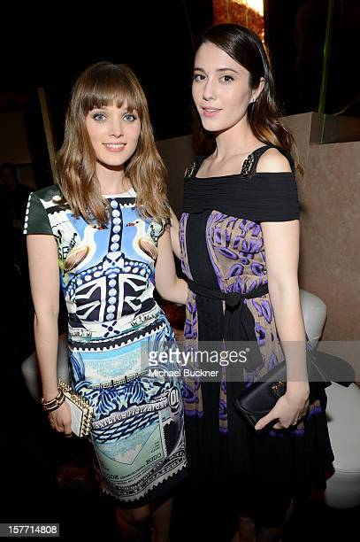 Actresses Bella Heathcote and Mary Elizabeth Winstead attend the Rodeo Drive Walk Of Style honoring BVLGARI and Mr Nicola Bulgari held at Bulgari on...