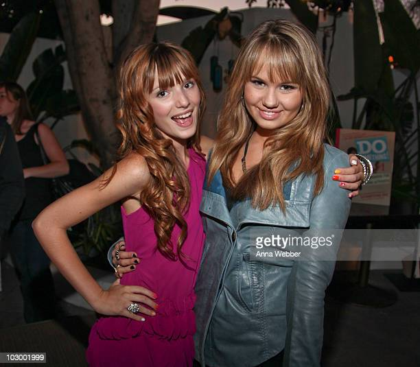 Actresses Bella Thorne and Debby Ryan attend the 2010 VH1 Do Something Awards After Party at La Vida on July 19 2010 in Los Angeles California