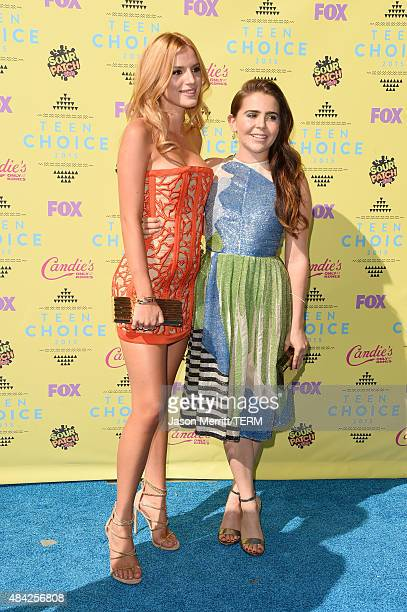 Actresses Bella Thorne and Mae Whitman attend the Teen Choice Awards 2015 at the USC Galen Center on August 16 2015 in Los Angeles California