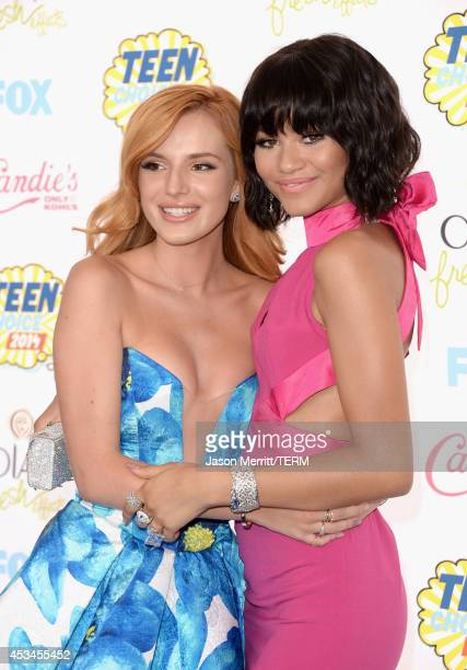 Actresses Bella Thorne and Zendaya attend FOX's 2014 Teen Choice Awards at The Shrine Auditorium on August 10 2014 in Los Angeles California