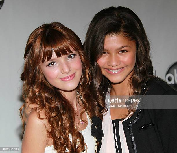 Actresses Bella Thorne and Zendaya Coleman attend the Disney ABC Television Group's Summer TCA party at the Beverly Hilton on August 1 2010 in...