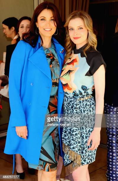 Actresses Bellamy Young and Gillian Jacobs attend Vogue Lunch In Celebration Of The Etro Spring Collection Hosted By Sally Singer at Sunset Tower...