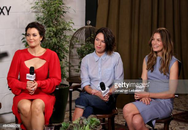 Actresses Bellamy Young Lena Headey and Michelle Monaghan attend the Variety Studio powered by Samsung Galaxy at Palihouse on May 29 2014 in West...