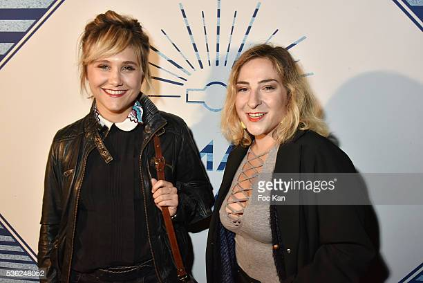 Actresses Berangere Krief and Marilou Berry attend 'Ma Terrazza' Opening Party at Bus Palladium on May 31 2016 in Paris France